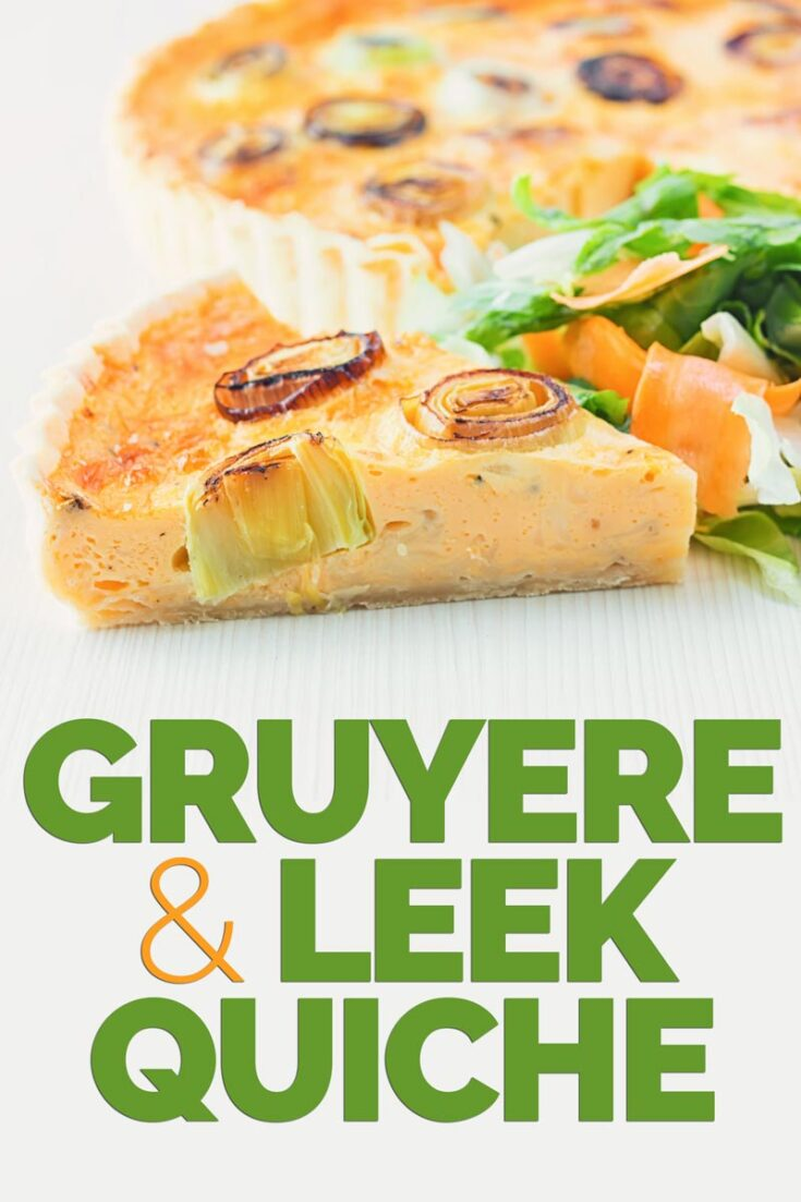 This Gruyere and Leek Quiche is a little play on the classic idea of a cheese and onion quiche using nutty almost smoky Gruyere cheese & charred leeks. #quicherecipes #gourmetquicheThis Gruyere and Leek Quiche is a little play on the classic idea of a cheese and onion quiche using nutty almost smoky Gruyere cheese & charred leeks. #quicherecipes #gourmetquiche