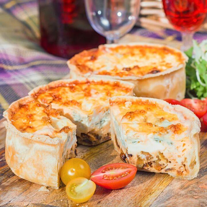 Cheese and Onion Mini Quiche