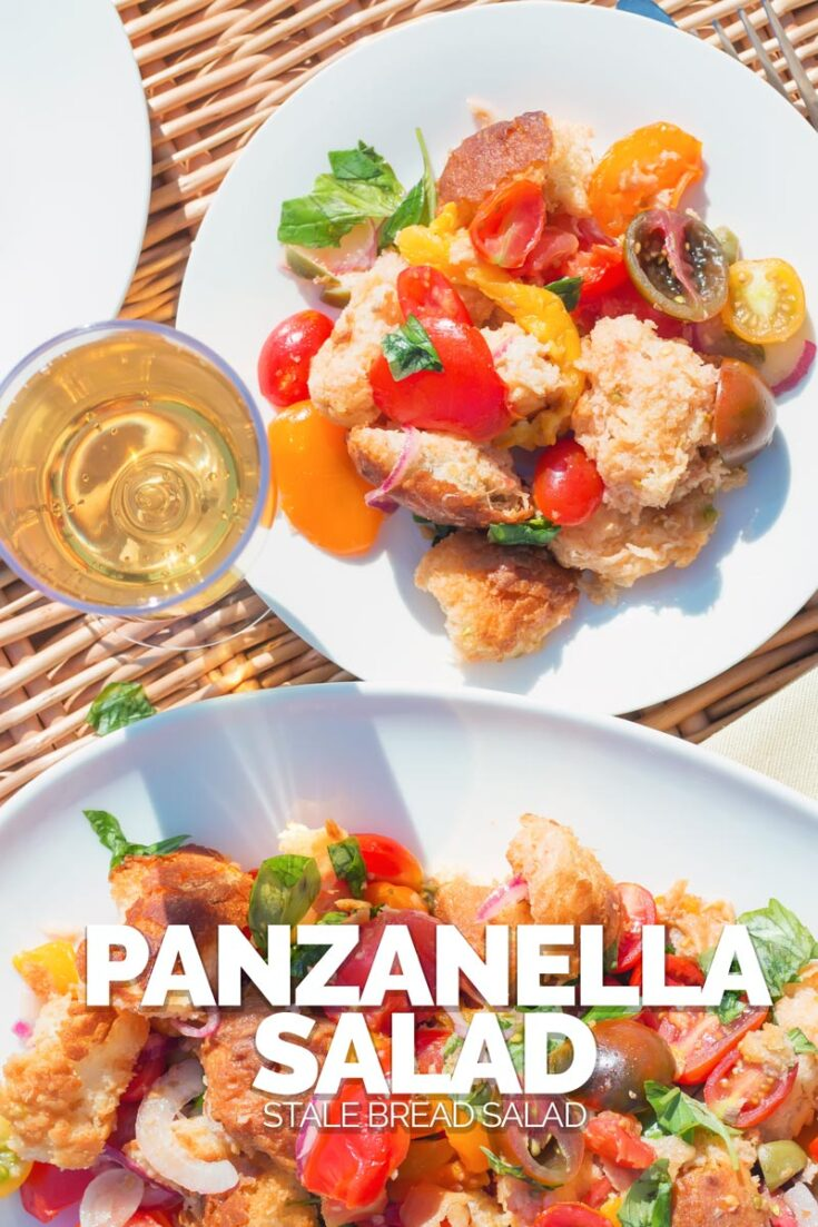 Panzanella salad really is a wonderful frugal route to Picnic Perfection, stale bread and beautiful ripe tomatoes make this Italian classic salad a must make #picnicrecipe #italiantomatosalad