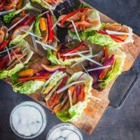 Spicy Pineapple Pork Lettuce Wraps