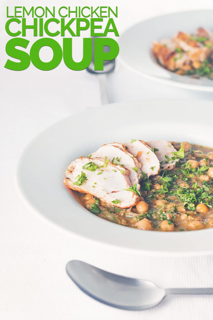 Is it a soup, is it a stew... Who cares, this simple lemony chicken and chickpea soup is a glorious one-bowl meal. Hearty, bright, zingy and full of great ingredients this recipe is bound to raise a smile!
