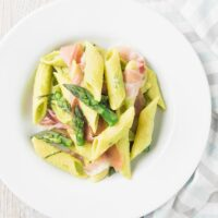 Ham and Asparagus Pasta