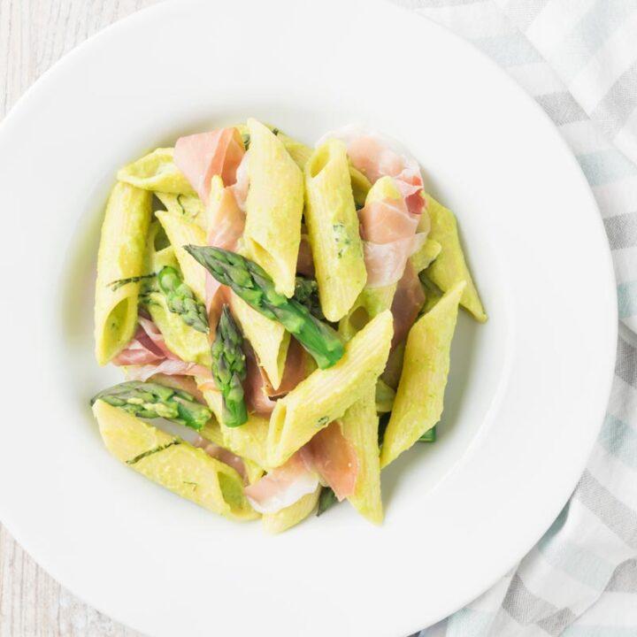 Ham and Asparagus Pasta