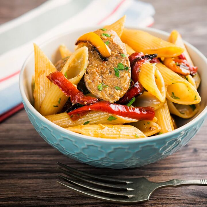 Pepper and Sausage Pasta