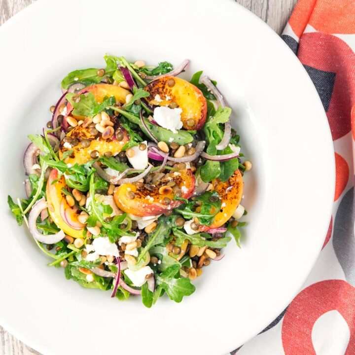 Peach and Feta Cheese Salad