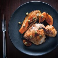 Braised Chicken Legs with Endive