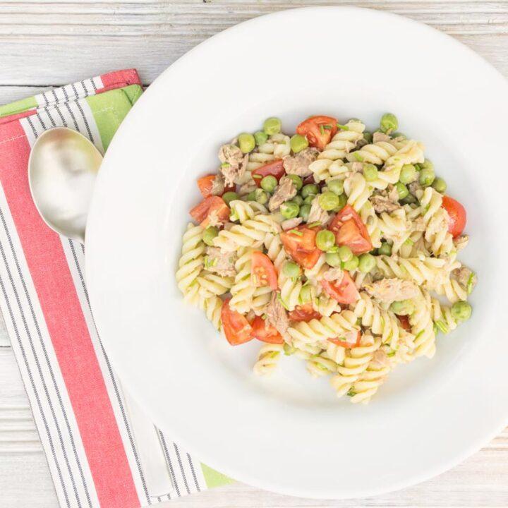 Pea and Tuna Pasta Salad
