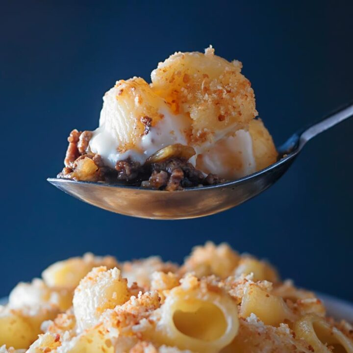 Mac and Cheese with a Beefy Surprise