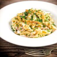 Sage and Onion Chicken Pasta