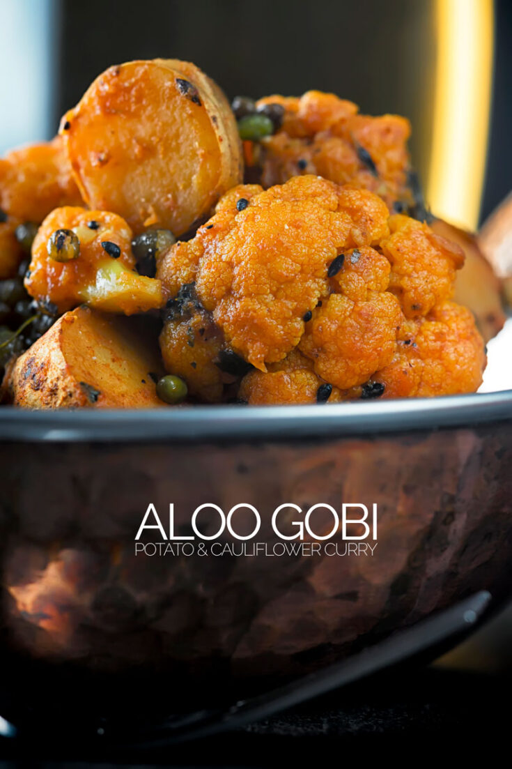 If you want a vegan curry then you must make this aloo gobi recipe a fantastic potato and cauliflower curry, so many wonderful rich flavours and all done in under an hour. #veganrecipe #restaurantstylealoogobi #veggiecurry #dinnerfortwo #easycurryrecipes
