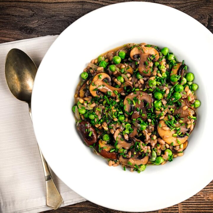 Recipe for Pea and Mushroom Orzotto