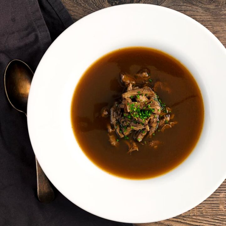 Classic British Oxtail Soup Recipe