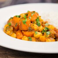 Carrot Curry with Chickpeas