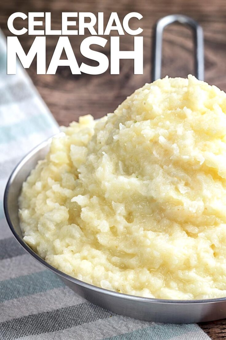 Celeriac mash has the most incredible flavour and makes for a wonderful alternative side dish to everything from stew to fish. #mashalternative #celeriacmash #sidedish #easyceleriacmash #celeriacmashrecipe