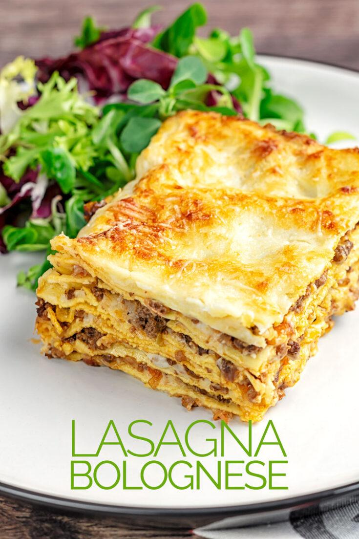 A traditional lasagna bolognese is nothing short of a masterclass in comfort food, pasta, bechamel, Parmesan and a trad bolognese ragu #lasagnarecipe #dinner #lasagna #homemade #bolognesesaucerecipe #lasagnabolognese