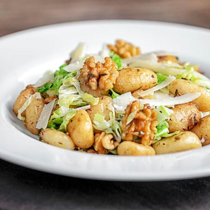 Quick Gnocchi Recipe with Cabbage & Walnuts