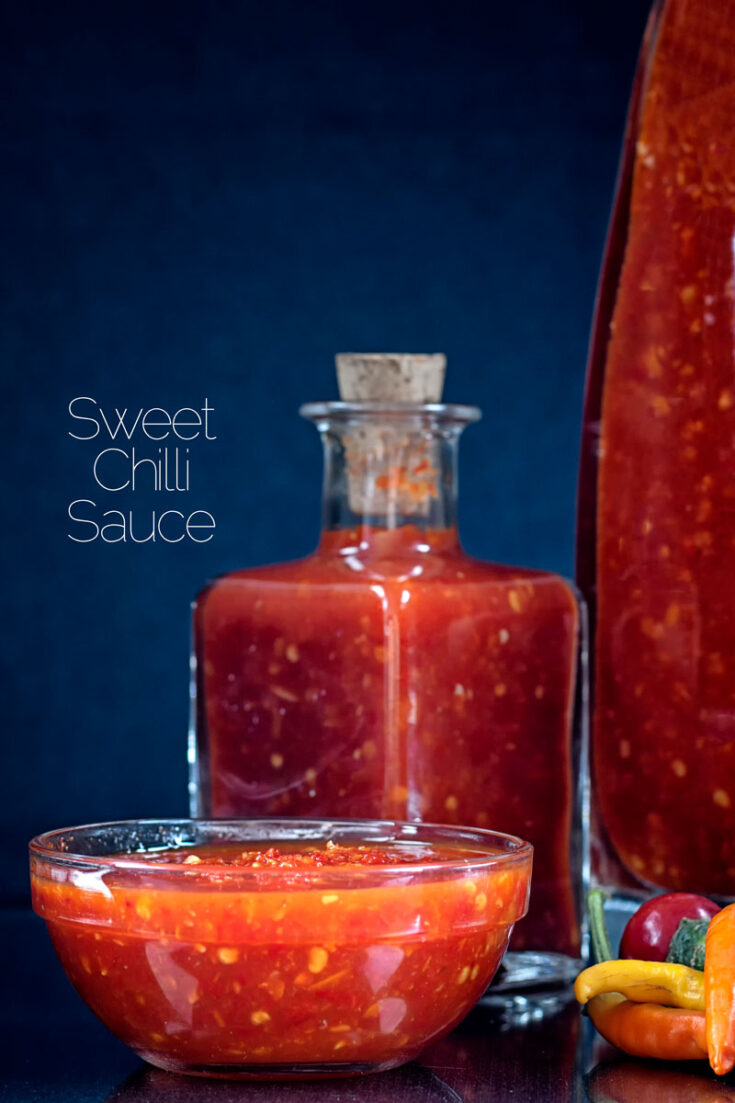 This simple sweet chili sauce recipe is perfect for everything from slathering onto bacon sandwiches through stir fry sauces and glazes.