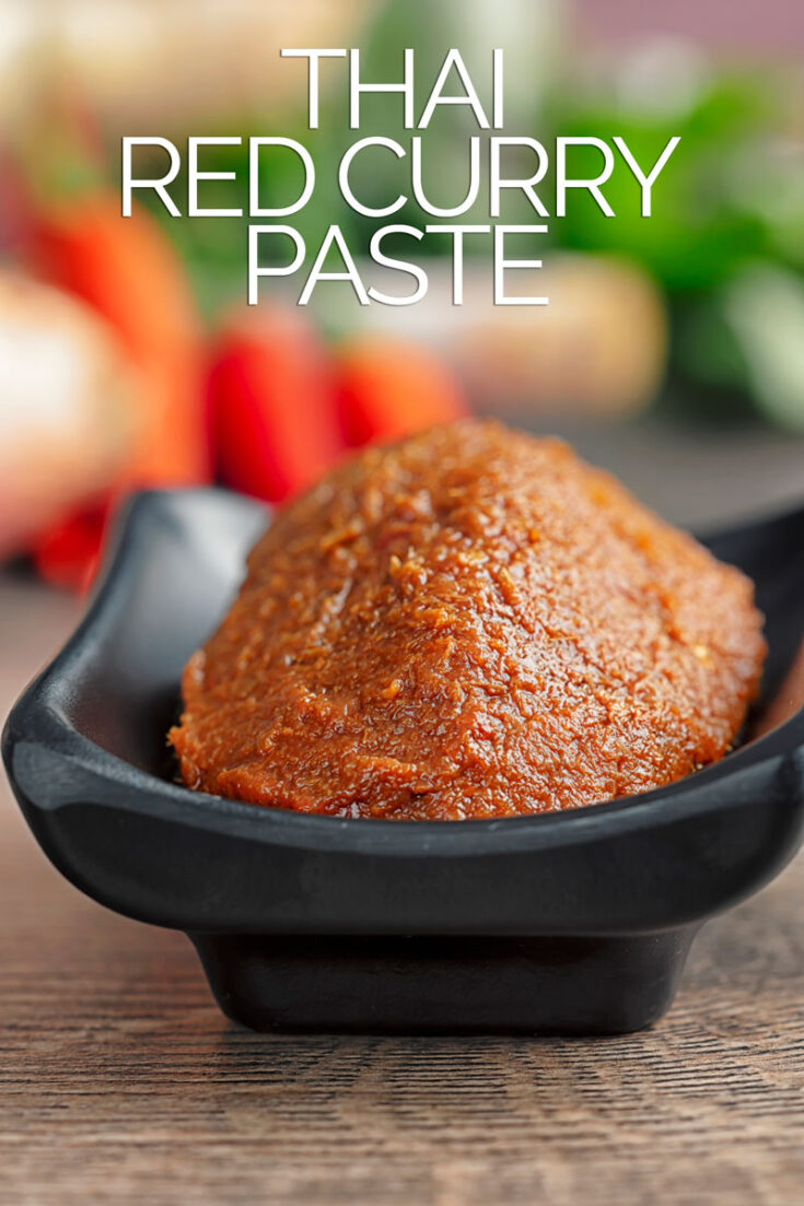 This Thai Red Curry Paste recipe is the perfect base for a host of fantastic Thai curry recipes.