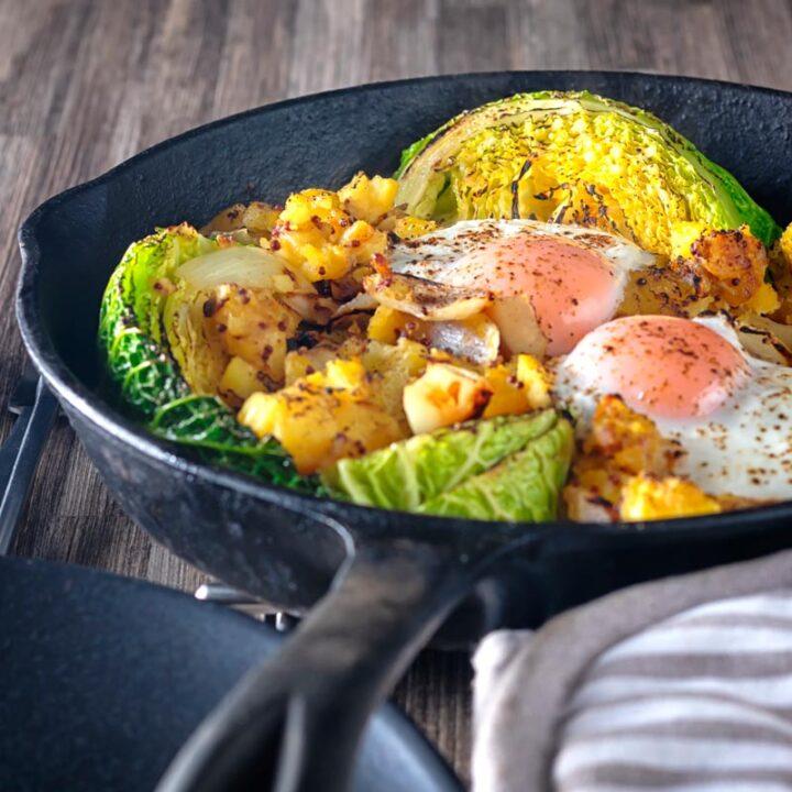 Skillet Cabbage and Potato Bake Recipe