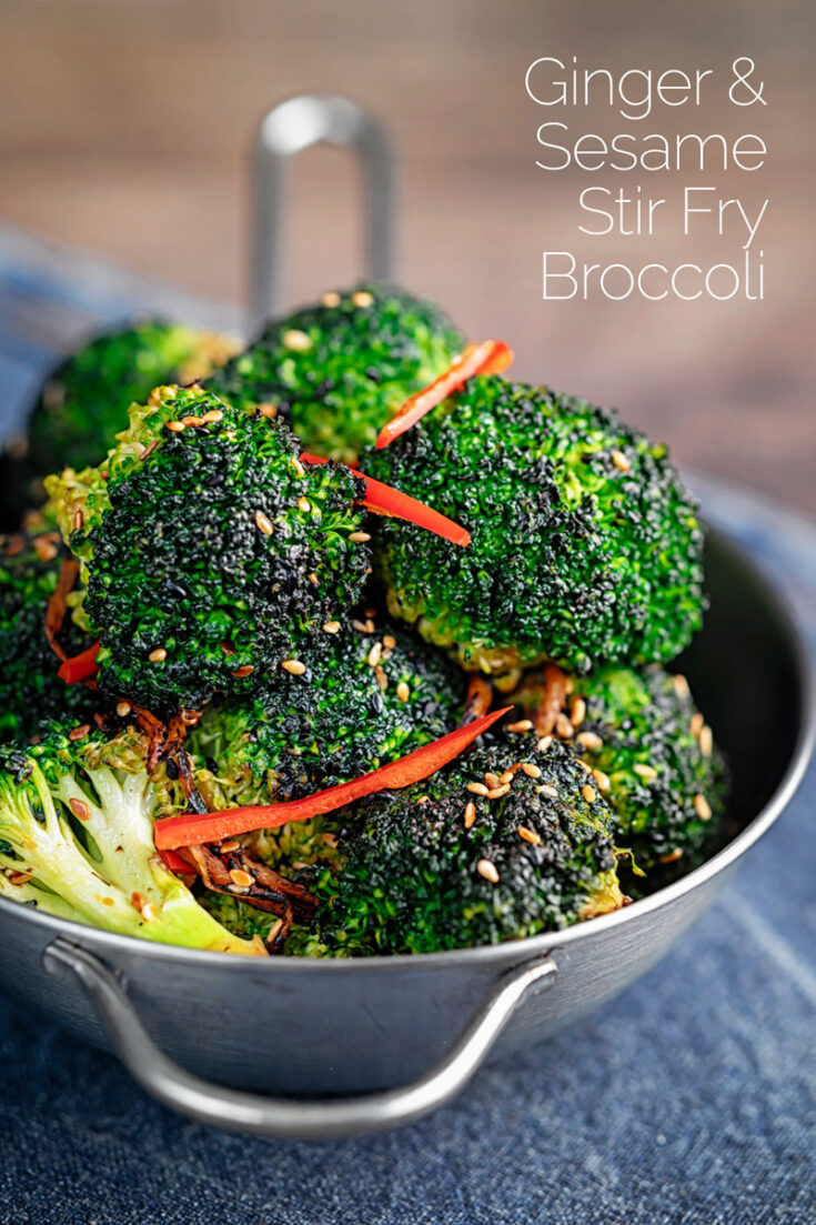 This simple stir fry broccoli recipe features sesame, ginger and chilli and makes for a perfect side to an Asian main course!