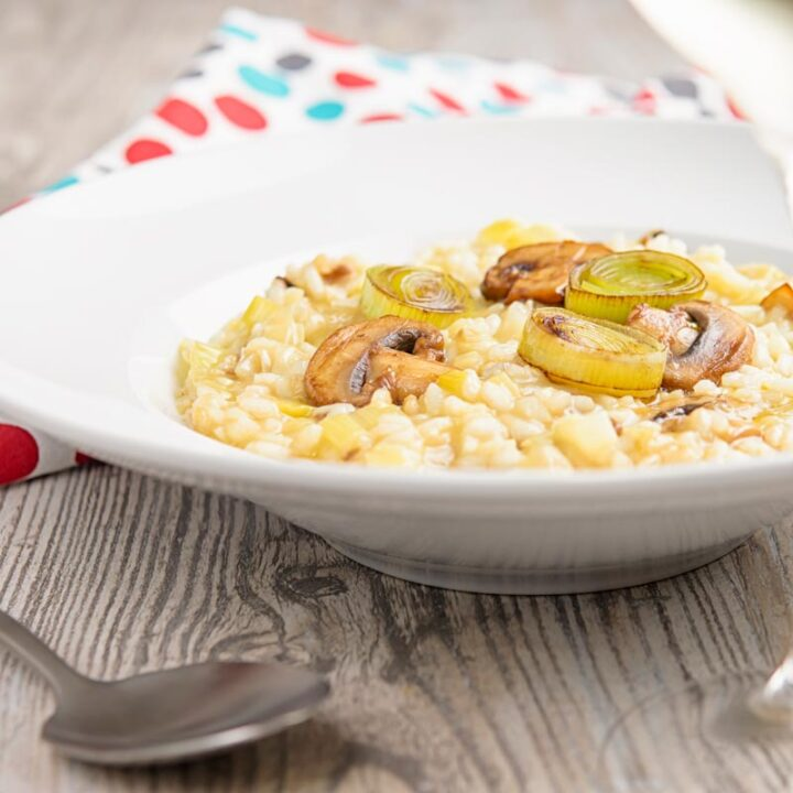 Leek and Mushroom Risotto Recipe