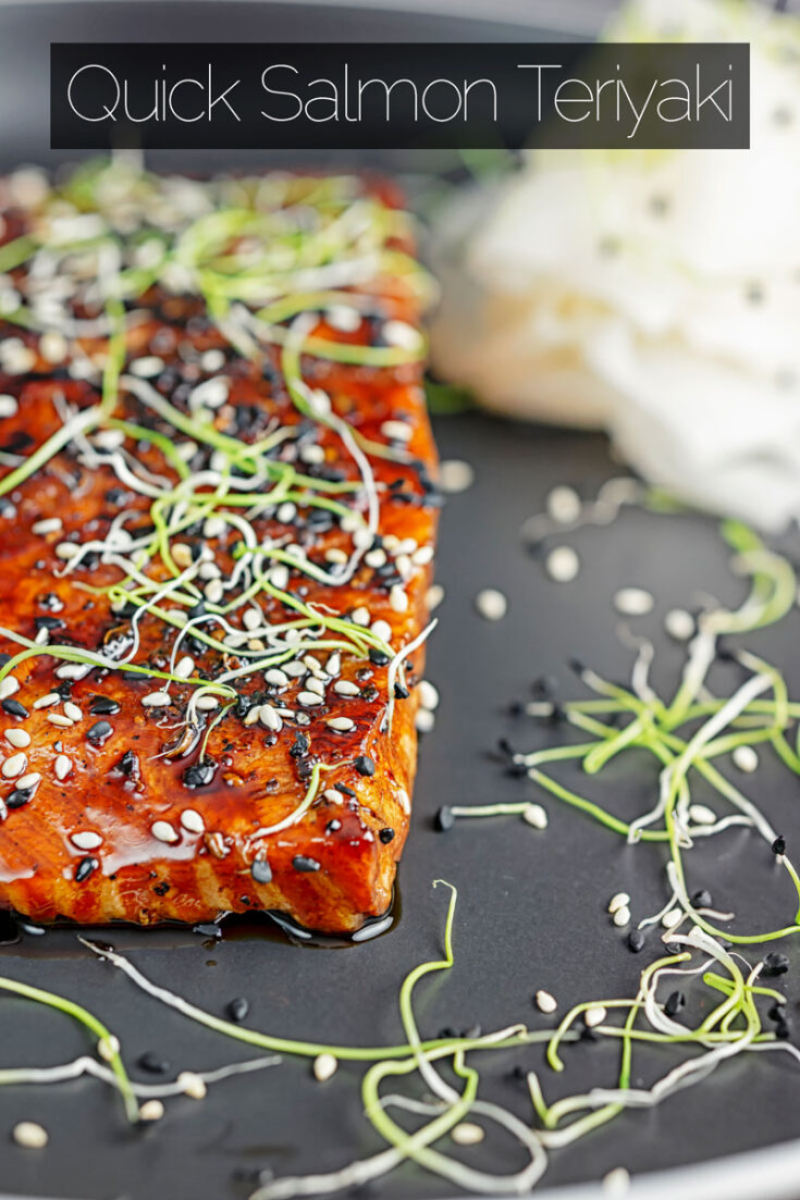At 20 minutes from start to finish, this super quick pan-fried salmon teriyaki recipe will become a firm favourite mid-week dinner. #salmon #fishsuperideas #dinnerfortwo #teriyakisauce #Simplefishrecipes #teriyakisalmonrecipes