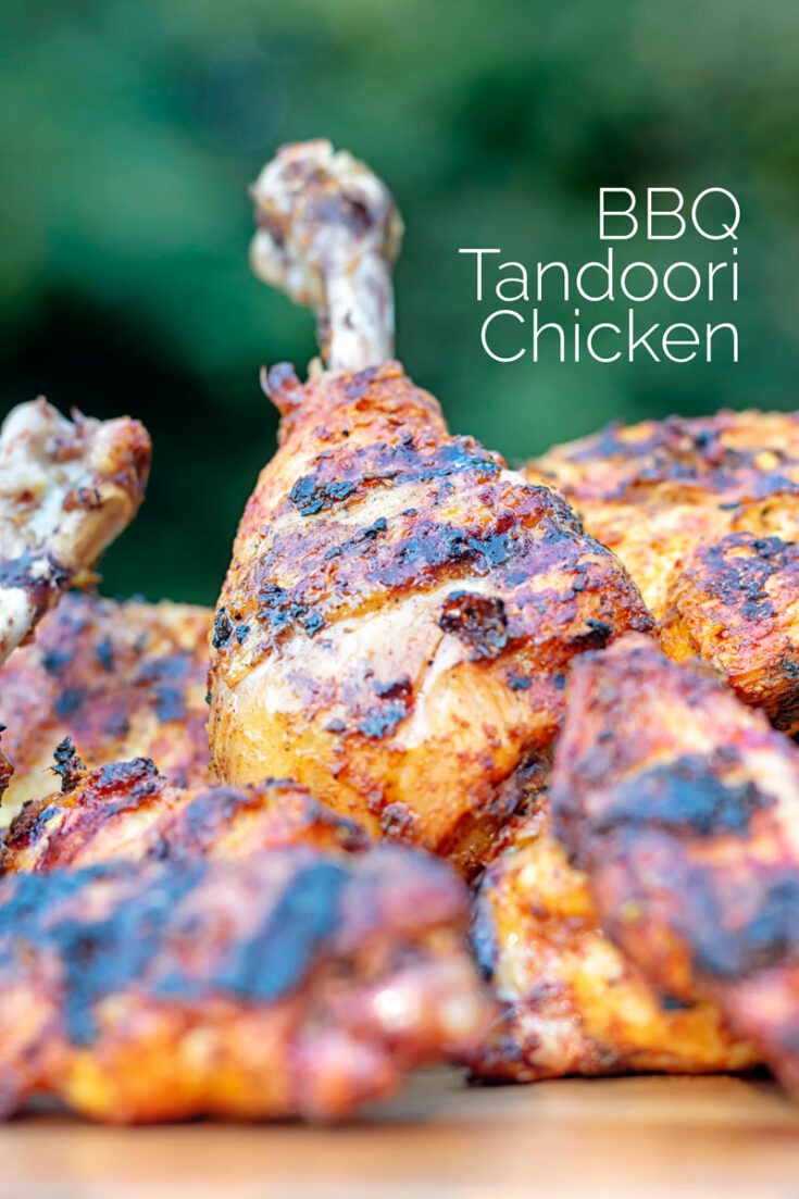 Unless you have a tandoor oven then the dry smoky heat of a BBQ is the very best place to cook this perfect Tandoori Chicken recipe.