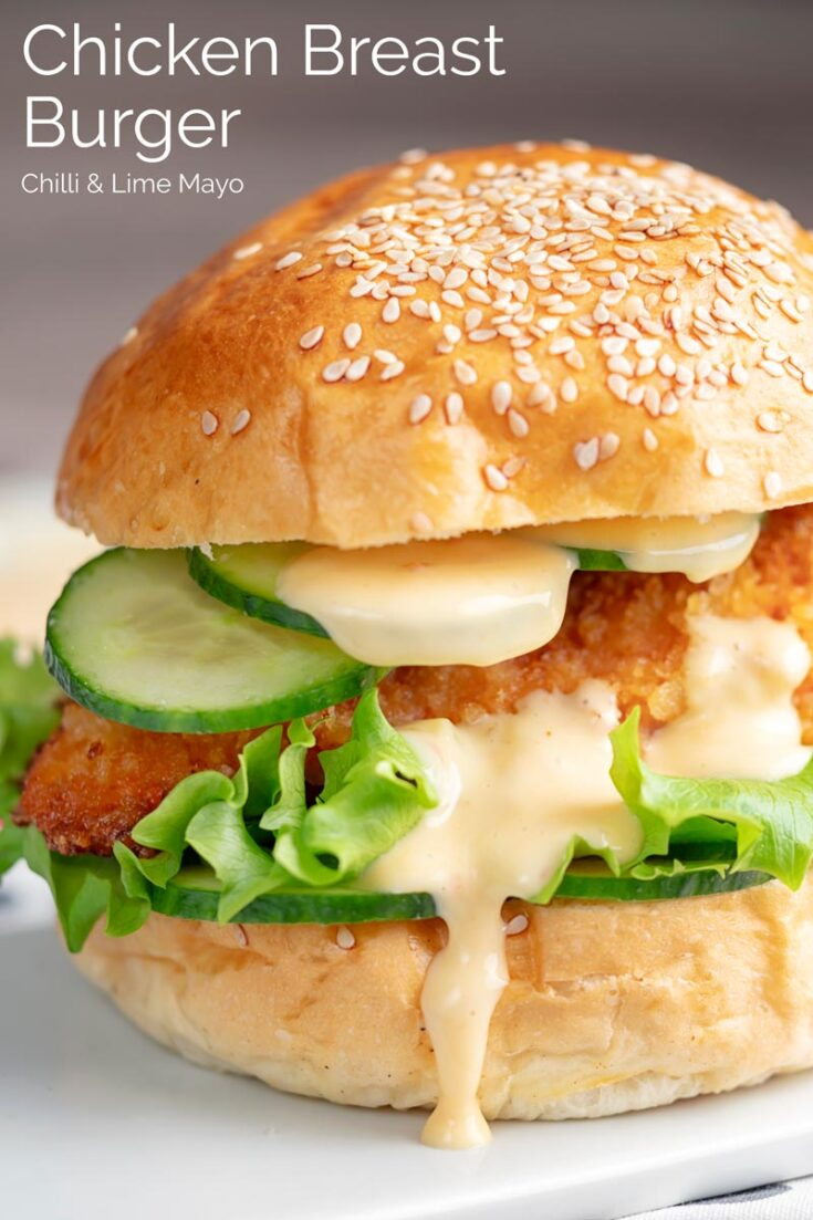 A perfect burger is a beautiful thing and this perfect Chicken Burger is simplicity personified and that chilli and lime mayo, swoon!
