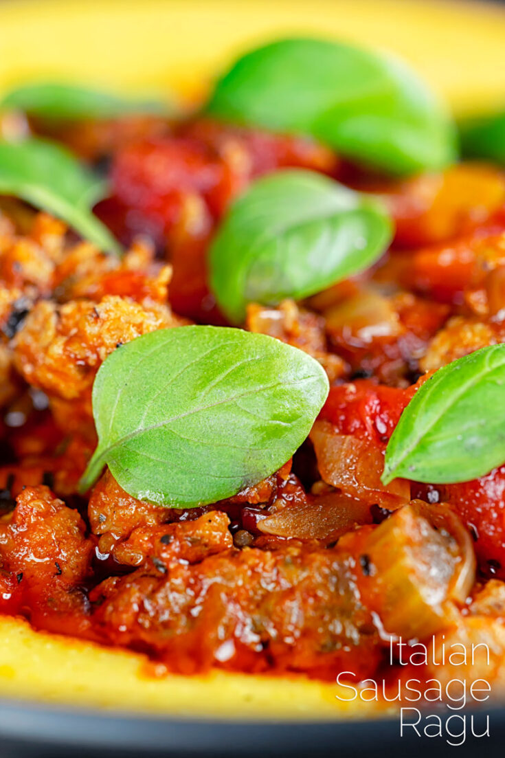 This simple Italian sausage ragu recipe cooks low and slow for an hour to draw out all of the flavour from spicy Italian sausages.