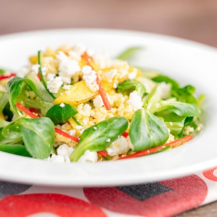 Mango Salad Recipe with Millet and Feta